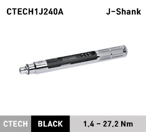 CTECH1J240A Interchangable Head J-Shank ControlTech® Industrial Torque Wrench (1–20 ft-lb) (1.4-27.2 Nm) 스냅온 산업용 헤드교환식 토크렌치 토르크렌치 (J-Shank)
