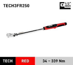 "TECH3FR250 Torque Wrench, Electronic, Techwrench®, Flex Ratchet, 25–250 ft-lb, 1/2"" drive 스냅온 1/2"" 드라이브 토크렌치 토르크렌치"